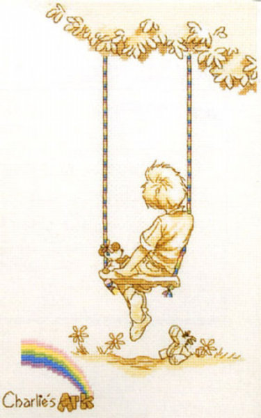 Charlies Ark On The Swing Cross Stitch Kit
